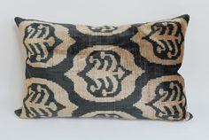 İkat Velvet Pillow Cover 13.5'' x 21.5''  Decorative by salihtex