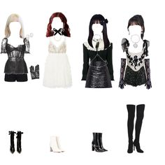 Kpop Fashion Outfits, Stage Outfits, Dance Outfits, Girl Outfits, Cute Outfits, Kpop Costume, Retro Outfits, Polyvore Outfits, Fashion Looks