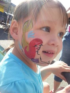Ariel! The Little Mermaid  Disney face painting #facepainting #facepaint #facepainter #ariel #littlemermaid #thelittlemermaid