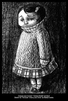 "Benjamin Lacombe - Sketch for the book ""Cerise Griotte"" Ed.: Seuil"