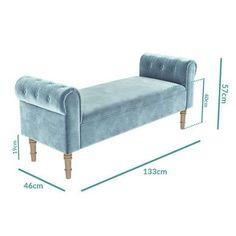 Hall Furniture, Large Furniture, Duck Egg Blue Hallway, Duck Egg Blue Velvet, Pink Velvet, Cosy Bedroom, Bedroom Decor, Living Room Bench, Home Room Design