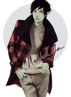Fashion Time : Marshall Lee by *reddii on deviantART