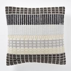 Margo Selby Woven Block Pillow Cover - Slate