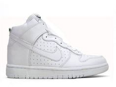 Mens Nike Dunk High All White Air Holes Aka Undefeated 61dfbf1f604e