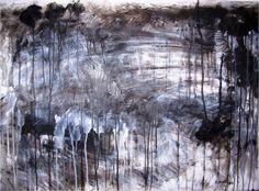 """Movement & Location – Landscape II"" Acrylic on a depron sheet 57 x 80 cm January 2013"