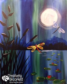 Dragonfly Night   Creatively Uncorked   http://creativelyuncorked.com