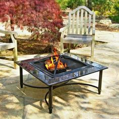 New 34 Inch Outdoor Patio Black Marble Fire Table Pit Steel Fire Bowl Firepit Fire Pit Parts, Black Marble Tile, Portable Fire Pits, Cool Fire Pits, Modern Fire Pit, Outdoor Tables, Outdoor Decor, Outdoor Ideas, Patio Ideas