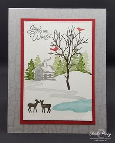 [original_tittle] – Stamping in Columbus, GA, with Stampin' Up! in mind [pin_tittle] Snow Front -> Christmas Stamp-a-Stack Homemade Christmas Cards, Stampin Up Christmas, Christmas 2019, Handmade Christmas, Christmas Holiday, Handmade Greetings, Greeting Cards Handmade, Xmas Cards, Holiday Cards