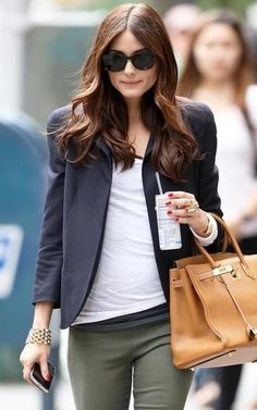 Olivia Palermo with a casual cute outfit.