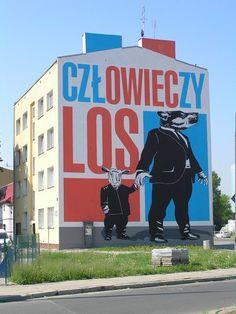 """Mural """"Człowieczy los"""" - Radzymińska 150 - Sztuka - Twoja Praga"""