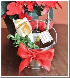 Garlic & Herb Dipping Oil Hostess Gift Pail - includes recipe