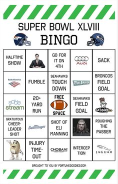 Super Bowl Pools Ideas super bowl pool Free Printable Super Bowl Bingo Cards Superbowl Gameday