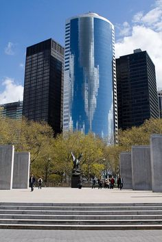 Battery Park, southern end of Manhattan Island, w/the WW !! Memorial...
