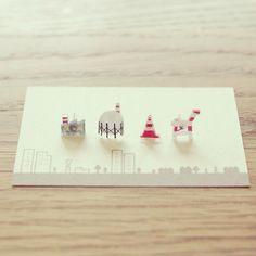 ドボクなピアス by しあわせねずみ アクセサリー ピアス | ハンドメイド、手作り作品の通販・販売サイト minne(ミンネ)