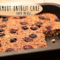 Havermout ontbijt cake. Zie voor meer recepten: http://fitbeauty.nl/recepten/