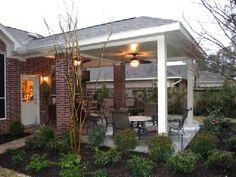 Covered patio idea.