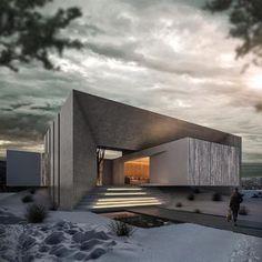 Winter is coming. ✏️Villa by Ras Dream Houses 📍Aalborg, ____ Info: * Designer: * Latest articles 📲 link in… Villa Design, Facade Design, Modern House Design, Exterior Design, Art Et Architecture, Architecture Magazines, Beautiful Architecture, Contemporary Architecture, Conception Villa