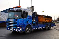 SCANIA waste container transport