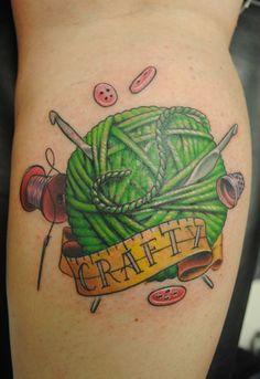 Crochet tattoo