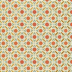 Schumacher Serallo Mosaic Persimmon Wallpaper