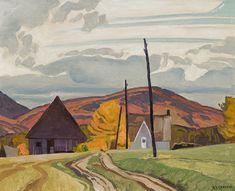 A.J. Casson - Near Letterkenny 12 x 15 Oil on board Twitter, Boards, Painting, Oil, Board, Painters, Men, Planks, Painting Art