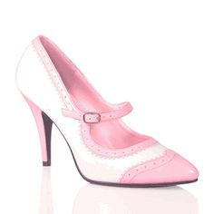 Pink and white spectator Mary Jane Pumps...*swoon*