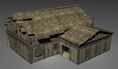 Wood House 3d model free
