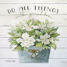Do All Things with Great Love Canvas Art Print by Cindy Jacobs Love Canvas, Canvas Frame, Canvas Art Prints, Canvas Wall Art, Decoupage Printables, Reclaimed Wood Art, Mason Jar Flowers, Pretty Drawings, Wall Decor Pictures