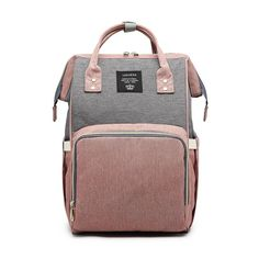 a006b13b1adcb Rose grey nappy changing and travel bag backpack