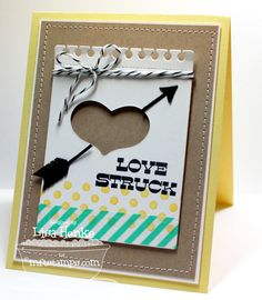 Document It - Right on Target; Darling Dots; Accent It - Feathers and Arrows Die-namics; Rustic Hearts Die-namics; Accent It - 3x4 Notepad - Lisa Henke