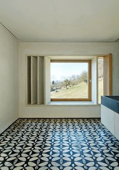 KARAK designer tiles. KuQua Tiles Bath. Haus Rauch. Architecture Arch. Roger Boltshauser, Martin Rauch. Schlins, Vorarlberg, Austria.