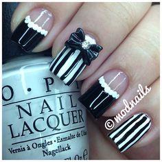 Black and white  #opi #bownails @modnails