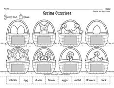 Singular and plural nouns are reinforced with this delightful Spring worksheet. The answers are shown in the pictures!