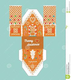 Printable Gift Gingerbread House With Christmas Glaze Elements. Template For 3 D House. House 3 D Paper Craft. - Download From Over 49 Million High Quality Stock Photos, Images, Vectors. Sign up for FREE today. Image: 50096101