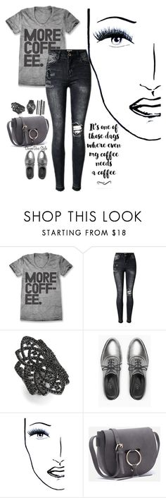 """""""Untitled #458"""" by wanjikugithaiga ❤ liked on Polyvore featuring Noir, Max&Co. and Black Magic Lashes"""