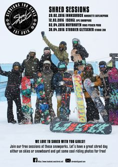 Shred Unit Girls Sessions ! Infos gibt´s bei uns: http://www.snowlab.de/scene_events.php?scene_events_id=486