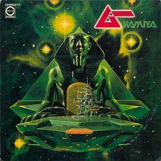 error888:  KAMIYA (神谷重徳) / ムー レコードジャケット 1980年 キャニオン・レコード (via タイムラインの写真 - 生賴範義 展 The Illustrator | Facebook)