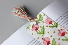 Items similar to Flower bookmark// hand painted watercolor bookmarks // tassel bookmarks // handmade bookmarks // book accessories // flower bookmark on Etsy Watercolor Bookmarks, Watercolor Paper, Tassel Bookmark, Handmade Bookmarks, Unique Flowers, Tassels, Hand Painted, Illustration, Painting