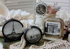Re-Purpose old Clocks into  Frames for photos or pictures. Remove clock faces and insert any photo that you want.