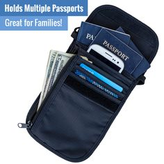 Great family passport holder and travel wallet! Holds several passports plus most smartphones, boarding passes, and other travel documents - from Travel Navigator Accessories, available at Amazon.com