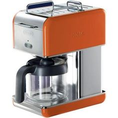 DeLonghi kMix 10-Cup Coffee Maker in Orange DCM04OR at The Home Depot