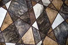 Runway pattern shown in various naturals #cowhide #naturals