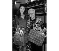 Margherita and Rosita Missoni at the Marni Flower Market