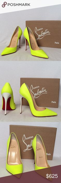 Christian Louboutin So Kate 120 Fluo Pumps Christian Louboutin So Kate 120 Fluorescent Matte Pumps Color: Fluorescent Yellow Heel: 120mm Size EUR 38  All of my items are 100% Authentic ! Includes box and dust cover Christian Louboutin Shoes Heels