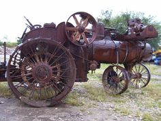 A fine old Rumley tractor - not something you see everyday!