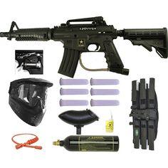 US Army Alpha Black Elite w/ Response Paintball Marker Gun 3Skull Mega Set. Available at UltimatePaintball.com
