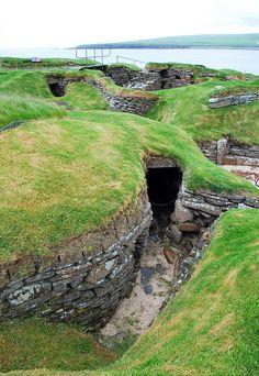Skara Brae, Orkney Islands, Scotland, UK - These look like hobbit holes to me!