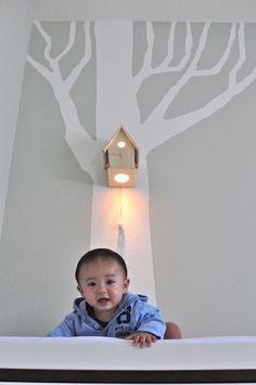 Etsy: Avery Modern Wall Hanging Birdhouse Lamp for Baby Nursery Lighting $110