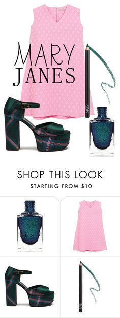 """""""Preppy Mary Janes"""" by beavoight ❤ liked on Polyvore featuring Emilia Wickstead, Mulberry and NARS Cosmetics"""
