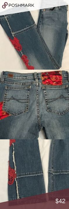 """Allen B Embroidered Distressed Jeans - Rare Say what?!?!?! These are so amazing! If you are looking for something a little more uniquely you, these jeans will do it! Great condition; no holes, stains or rips. Normal signs of wear around bottom of pants. Go for it; you know you want to . . .   Length - 42"""" Inseam 32.5"""" Waist 28"""" Allen B. By Allen Schwartz Jeans"""